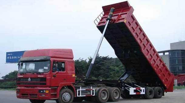 8.6米平板自卸半挂车