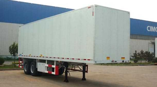 10米2轴厢式半挂车  27吨