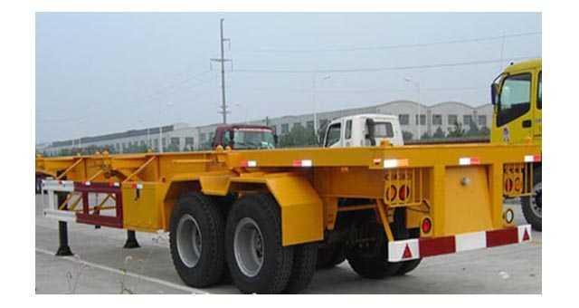 9.5米30英尺集装箱骨架车