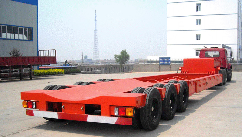 16米伸缩式低平板半挂车
