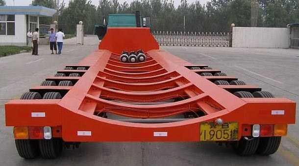 13米特种穿心梁低平板半挂车
