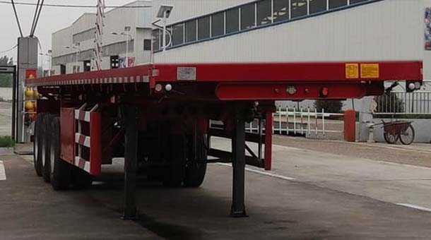 11米平板自卸半挂车