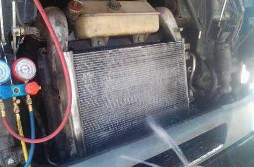 冲洗挂车散热器
