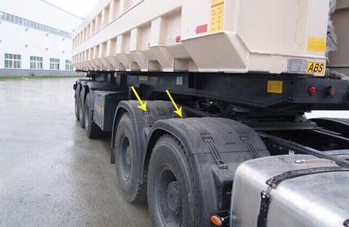 防止水雾形成的部件就是轮胎上的挡泥板