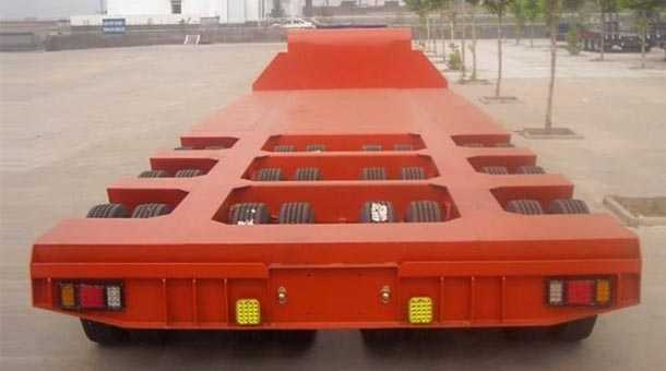 16米三线六轿低平板半挂车