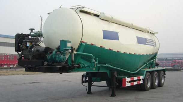 低密度粉粒物料运输半挂车 12米 50立方