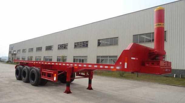 10米平板自卸半挂车