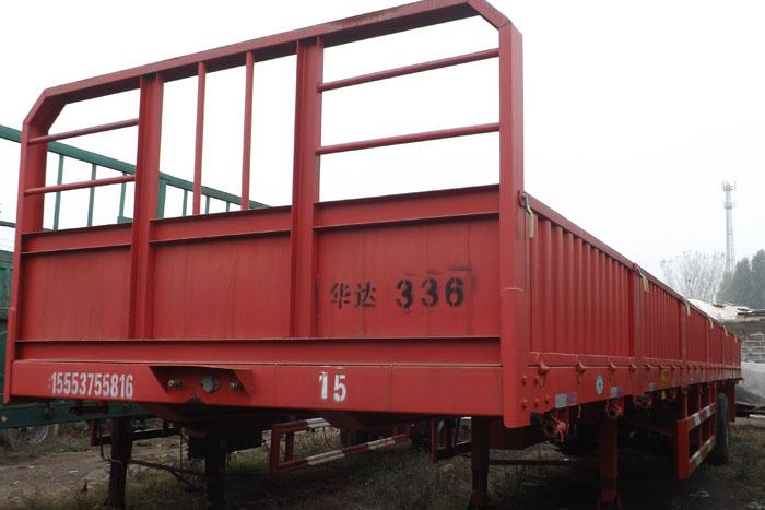 [济宁]2015年库存13米标准栏板半挂车