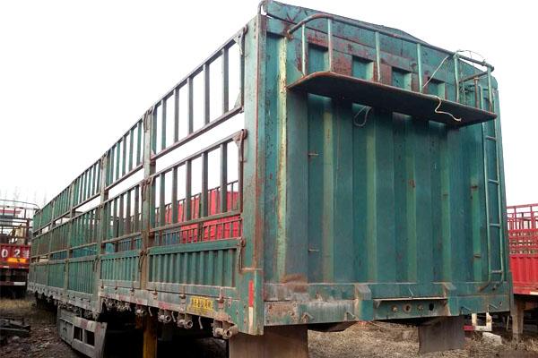 [济宁]0年二手高低板仓栏挂车